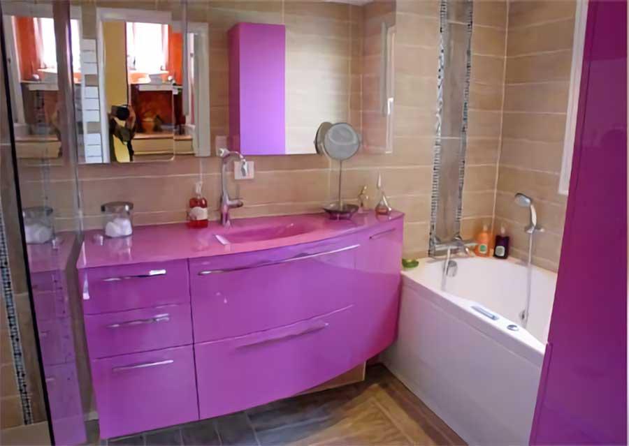 R novation compl te de salles de bains aubi re vers - Vers de salle de bain ...